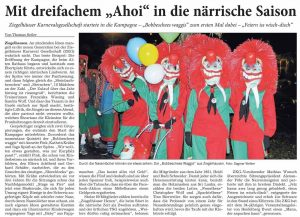 Mit dreifachem Ahoi in die närrische Saison! Ziegelhäuser Karnevalgesellschaft startete in die Kampagne!