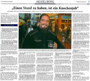 Joe Schwarz (Heidelberg Marketing GmbH) im Interview mit der Rhein-Neckar-Zeitung über den Heidelberger Weihnachtsmarkt