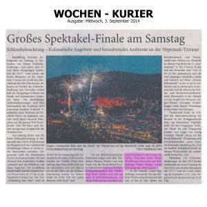 Großes Spektakel-Finale am Samstag - Heidelberger Schlossbeleuchtung - Kulinarische Angebote und bezauberndes Ambiente an der Nepomuk-Terrasse