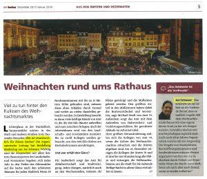 Weihnachten rund ums Heidelberger Rathaus - Wer ist verantwortlich für den weihnachtlichen zauber in Heidelberg? Die organisatorische Leitung hat Heidelberg Marketing um Joe Schwarz