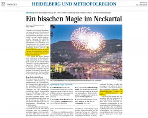 Joe Schwarz im Interview mit dem Mannheimer Morgen. Thema: Heidelberger Schlossbeleuchtung