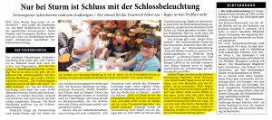 RNZ Ferienreporter Interview mit Joe Schwarz (Heidelberg Marketing GmbH) über die Heidelberger Schlossbeleuchtung am 16. August 2018 - Erschienen in der Rhein Neckar Zeitung