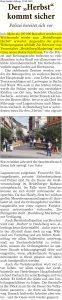 Einschätzung von Joe Schwarz zu den Besucherzahlen beim Heidelberger Herbst 2018
