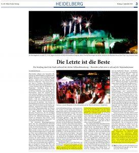 Artikel Rhein-Neckar-Zeitung / Joe Schwarz / Heidelberg / Heidelberger Schlossbeleuchtung