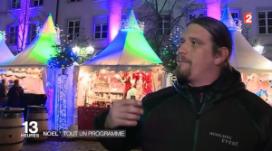 FRANCE 2 Interview Joe Schwarz Heidelberg Marketing GmbH Heidelberger Weihnachtsmarkt