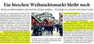 Heidelberger Weihnachtsmarkt - zwei Plätze blieben verlängert stehen - Joe Schwarz / Heidelberg Marketing GmbH
