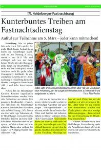 Joe Schwarz - HKK - Heidelberger Fastnachtszug 2019