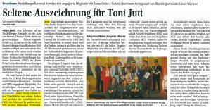 Sume Orden Verleihung Heidelberg 2019 - Mannheimer Morgen - HKK