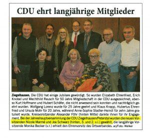 Joe Schwarz im Vorstand der CDU Heidelberg-Ziegelhausen-Peterstal