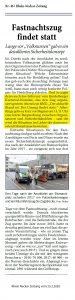Heidelberger Fastnachtszug 2020 - Joe Schwarz / Rhein Neckar Zeitung / Heidelberger Karneval Komitee HKK