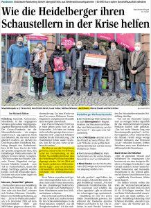 Mannheimer Morgen - Joe Schwarz - Heidelberger helfen Schaustellern