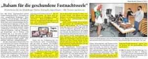 Ankündigung Heidelberger Online-Fastnacht 2021 - Joe Schwarz HKK - RNZ - Joe Schwarz im Interview