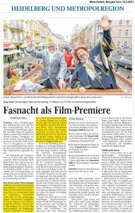 mannheimer Morgen - Joe Schwarz - HKK - Heidelberger Online Fastnacht
