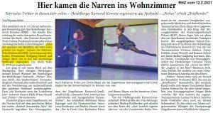 Rhein-Neckar-Zeitung - Joe Schwarz - HKK - Heidelberger Online Fastnacht