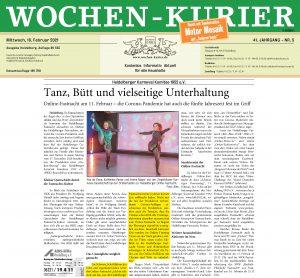 Wochenkurier Heidelberg - Joe Schwarz - HKK - Online Fastnacht 2021