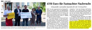 Heidelberger Schausteller fördern die Jugendarbeit der Heidelberger Fastnachtsvereine
