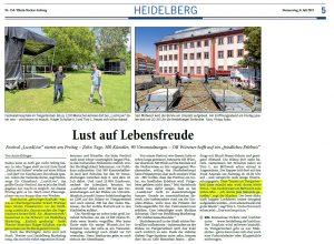 LUST4Live - Heidelberg - Rhein Neckar Zeitung - Joe Schwarz Heidelberg