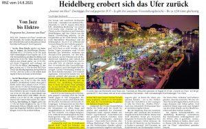 Sommer am Fluss 2021 - Joe Schwarz Heidelberg Marketing GmbH
